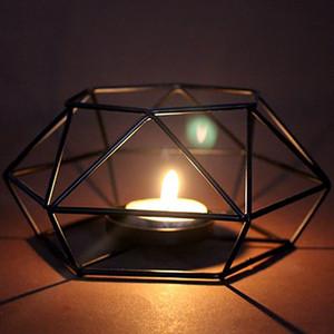 Hot 1PC Nordic Minimalist Art Ornaments Geometrische Leuchter der Wand-Matching stählerne Small Teelicht Kerzenhalter