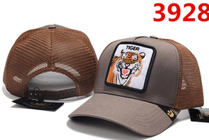 Высокое Качество Унисекс Бейсболки Европейский летний стиль сетка кепка Регулируемая вышивка тигр волк Шляпы для мужчин, женщин роскошный дизайнер Sun Hat