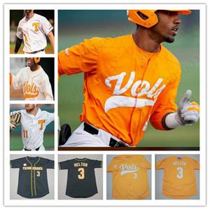 Custom NCAA Tennessee Volontari Baseball Cucita Jersey 3 Todd Helton # 11 Yan Gomes 19 Matt Duffy 21 Eric Gilliam Mens Youth Jerseys