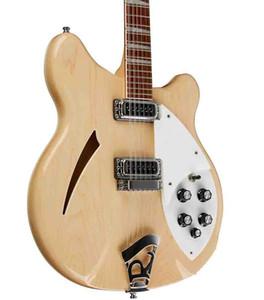 Cina Made 360 Guitar Guitar Natural Wood 12 Corde Chitarra elettrica Semi Srow Body Triangle Triangle Mother of Pearloid Fingerboard China Guitars