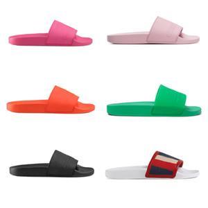 Brand Designer Gummi Rutsche Sandale hell bunt Flache Slipper Luxus Slides Flip Flops kausalen Sandalen für Herren Damen Designer Slipper