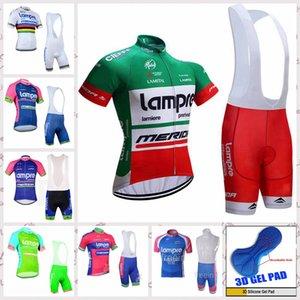 LAMPRE équipe MEN Maillot cyclisme bib Sets de course vélo manches courtes respirant rapide Dry A61118