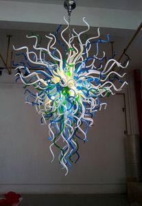 Ahorro de energía Fuente de luz soplado hecho a mano de lujo de cristal Chihuly estilo de iluminación de la lámpara de Big Szie Large Hotel chandeleir
