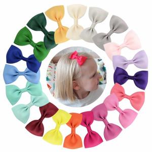 40colors 40pcs Küçük ilmek saç tokaları Mini Tatlı Katı Ribbow Bow Emniyet Saç Klipler Çocuk Tokalar