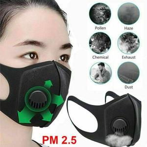 Máscara 1pc face esponja do filtro PM2.5 Poluição do Ar Anti Poeira e nariz Proteção reutilizável com máscara de respiração Válvula Boca Rosto da mulher do homem