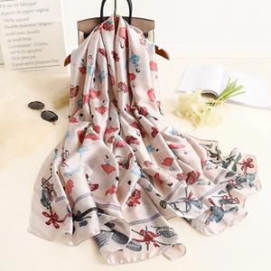Yulaili Lady Top Dress Accessories Summer Scarfs Women Wrap Silk Scarf Soft Shawl Printing Style Female Hijab Free Shipping