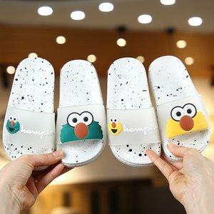 New Verão bonito dos desenhos animados spray Crianças Adulto pai-filho pequeno Slipper menina Little Kids Shoes home indoor Animal Prints