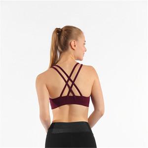 Yoga Spor Bra Tam Kupa Hızlı Kuru Üst Darbeye Çapraz Geri Koşu Spor Bra Koşu Kadınlar Spor Salonu için Egzersiz Bra Push Up