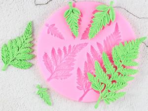 Sugarcraft 잎 실리콘 금형 미모사 퐁당 금형 DIY 케이크 장식 도구 캔디 수지 클레이 초콜릿 Gumpaste 형