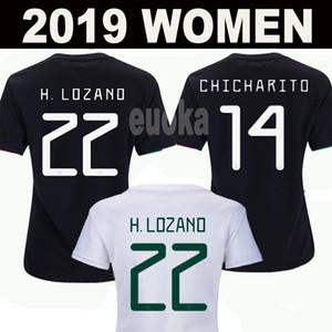 2019 Messico Donne Soccer P Jerseys Gold Cup Chicharito Lozano Chucky Girls Marquez Dos Santos Guardado Camicia da calcio Lady Camisetas de Fútbol