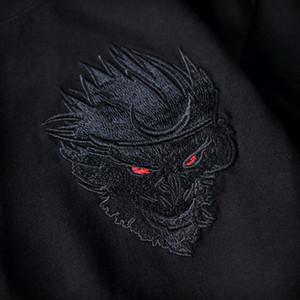 20190904 chino bordado estilo camiseta con cuello redondo y traje de pareja suelta