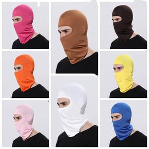 Маски Велоспорт ветрозащитный лица Pure Color велосипед Спорт шарф маска зимы теплые маски Похитители актерского реквизита Маска WY482Q