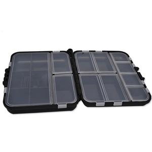 2 Camada Pesqueiro Caixa Multifuncional plástico destacáveis Pesca Lure Hooks Bait Tackle Box Acessório armazenamento caso com compartimentos