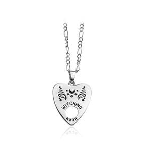 Herzförmige Halskette Sterne und Mond Muster Schriftzug Legierung benutzerdefinierte Halskette benutzerdefinierte Halskette für männliche und weibliche Freunde