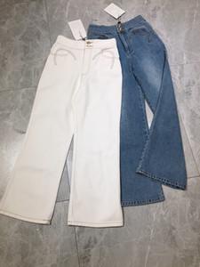 Jeans Milão Runway Jeans 2020 desenhador de moda reta Calças Jeans Marca Same luxo Estilo Mulheres de 0419-1