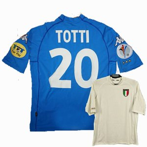 Retro 2000 Italy soccer jerseys MALDINI TOTTI DEL PIERO NESTA home AWAY Retro football shirt 2XL