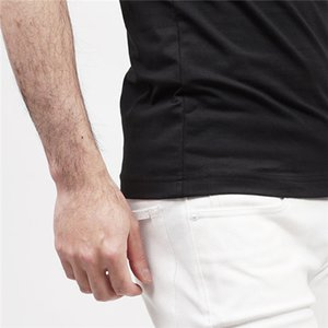 Mens Stylist T Shirts Black White Red Mens Fashion Stylist T Shirts Top Short Sleeve S-XXL
