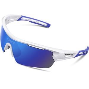 Torege Polarize Spor Erkek Bayan Bisiklet Koşu Sürüş Balıkçılık Golf Beyzbol Gözlük TR90 Frame için 4 lenes ile Güneş