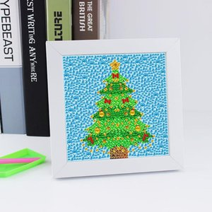 DIY Full Drill Diamond Painting Christmas Tree Special Shaped Drill Diamond Embroidery Cross Stitch Craft with Frame Home