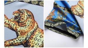 Manga Curta Clothes Tees Men 3D Luxury Printed T-shirts Verão O pescoço seda fina