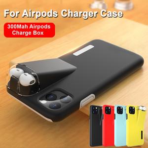 Jetjoy 2en1 para el iPhone 11 Pro Max Max X XR X 8 7 6 6S Plus cubierta del teléfono Coque para Apple AirPods 2 1 Con 300mAh cargador Caja