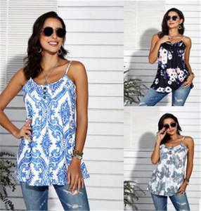 Mode Contraste Femme couleur imprimé floral T-shirts T-shirts manches de tous les jours Printemps Eté Femmes Designer Hauts Camisoles