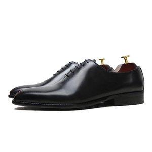 اليدوية جوديير سكوير رئيس الربيع الرجال أحذية تناسب العريس فستان زفاف الأعمال أكسفورد الأحذية الجلدية الأحذية