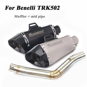 For Bnelli TRK502 Motorcycle Mid Link Pipe Exhaust Muffler Pipe With DB Killer TRK 502 Scooter Exhaust System Modified Escape