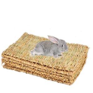 토끼 잔디 매트 작은 동물 자연 부드러운 잔디 햄스터 하우스 기니 돼지 케이지 침대 집 패드 햄스터 액세서리를 씹어 서