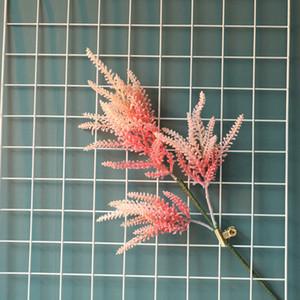 5pcs / lot 62CM Branche unique Perilla plastique Fleurs artificielles mariage Décoration verte Plantes Accessoires Faux Grass Leaf