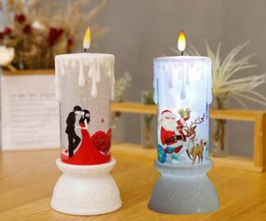 7 색 변경 밤 램프 파티 조명 낭만적 인 촛불 LED 램프 웨딩 파티 장식 LED 램프 촛불 모양 생일 선물 DC5V