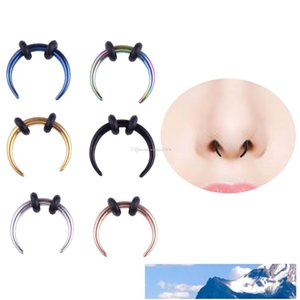 Newest Nose Ring Nose Stud Hoop Septum Clicker Ring Piercing Nose Clip Rings Body Piercing Jewelry