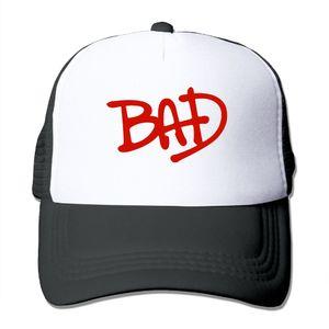 Мужчины Женщины Майкл Джексон Bad Circle Logo Кепка дальнобойщика Кепка для бега Лето Крутая бейсбольная сетка Шапки дальнобойщика Спортивная шапка Для взрослых