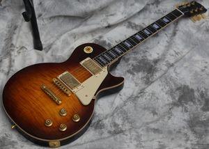 Özel Elektro Gitar, Tütün Sunburst, CST19032209GD, Stokta, Hızlıca Gönderildi