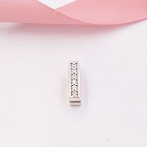 Otantik 925 Gümüş Boncuk Pandora Reflexions Zamansız Sparkle Klip Charm, Clear Taşlı Charms Avrupa Pandora Stil Takı Bra uyar