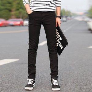 New Black Jeans Men New Designer Brand Ripped Skinny Slim Fit Pants 2019 Spring Casual Elastic Biker Jeans Plus Size