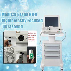Tıbbi Sınıf HIFU Yüksek Yoğunluklu Odaklanmış Ultrason Hifu Yüz Germe Makinesi Yüz Ve Vücut İçin 5 Kafaları ile Kırışıklık Giderme