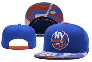 New York Islanders Hóquei No Gelo Gorros De Malha Bordado Ajustável Chapéu Bordado Snapback Caps Cinza Azul Costurado Chapéus Um Tamanho