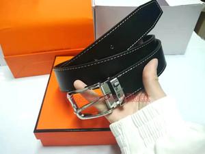 2020 Luxo designer de homens e mulheres Belt Com Moda Big Buckle de couro real h Top designer de alta qualidade Cintos de luxo com Box