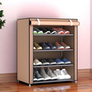 4/5/6 strati antipolvere Shoe Rack Organizer Tessuto non tessuto Shoe Shelf Shoes Storage Home Camera Dormitorio Gabinetto