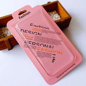 Pacote de varejo Boxes Box Pack Saco De Plástico transparente Blister cartão phone case para iphone XR XS Max X 8 Mais Galaxy S10e logotipo