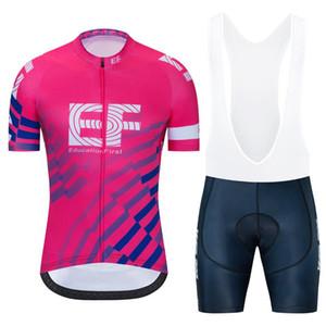 مجموعة TEAM 2020 NEW EF CYCLING JERSEY 19D السراويل هلام الدراجة ملابس Ciclismo رجل الصيف الجافة سريعة الموالية الدراجات مايوه السراويل الملابس