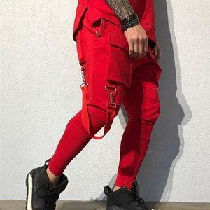 Calças Primavera e Outono Sweatpants Mens 2020 roupas de grife de luxo Hip-hop Big bolso Casual Sports Calças dos homens da forma Tooling Track Pants