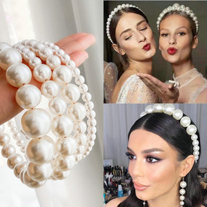 2020 newst specifications optional size retro hair band wedding dress pearl headdress bride new European and American hair band trend out