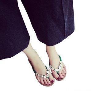 Frauen-Sommer-Punkt-Polka Blumen Flipflophefterzufuhren Schuhe Sandalen Slipper Indoor outdoorFlat Flip Flops Damenschuhe Zeitskleidung # 4