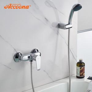 Accoona Смеситель Для Ванны Смешанный Клапан Горячей И Холодной Воды Nordic Chrome Тройной Ванна Душ Смеситель Для Ванной Душ Смесители A8065