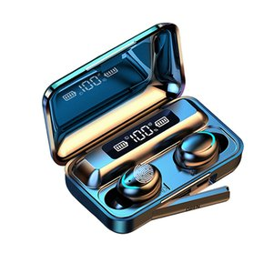 f9-5c TWS Bluetooth 5.0 Wireless Headphones Earphones 9D Stereo impermeável Sport fones de ouvido sem fio fone de ouvido Touch Control Headset