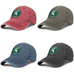 Michigan State Spartans Round Logo rot Herren und Damen individuelle Trucker-Denim Cap Design Designer Ihre eigenen Jahrgang personalisierte Design