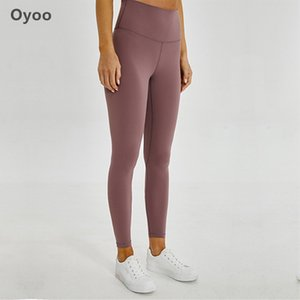 Oyoo High Waist Yoga Pants Hidden Pocket Red Tummy Control Workout Running 4 Way Stretch Sport Leggings -Athletic Squat Tights Y200601
