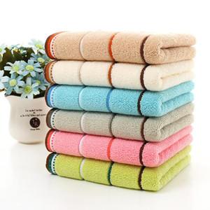 Toalla de secado rápido de banda de algodón de la cara de la mano Baño Baño absorbente 35 * 75/25 * 50cm del hogar del regalo del paño